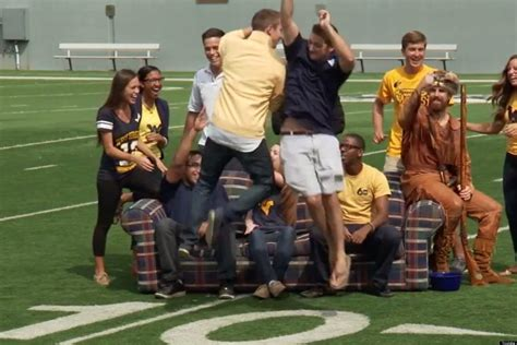 west virginia couch west virginia university makes anti couch burning psa