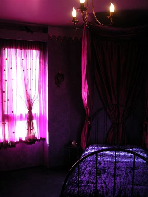 Bedroom How To Decorate Gothic Style Bedroom Gothic Purple Lights For Bedroom