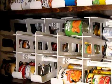 Fifo Storage Can Rack by Rotating Can Food Storage System Fifo