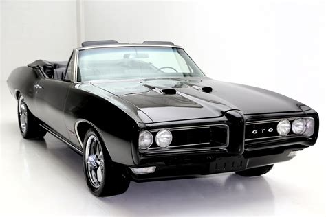 black convertible cars 1968 pontiac tempest convertible black