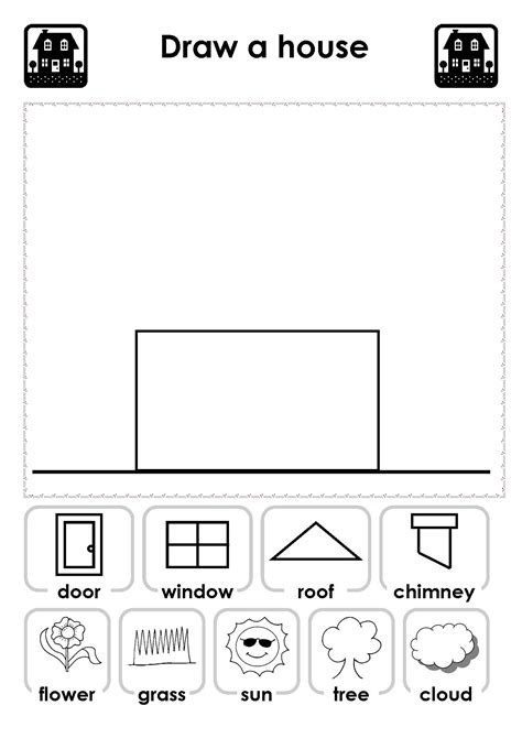 home design worksheet kindergarten worksheets colors school shapes seasons