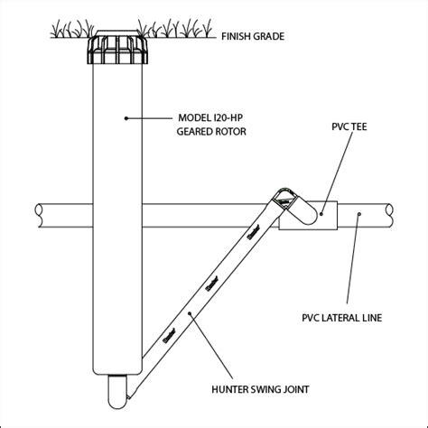 sprinkler swing joint i 20 rotary sprinkler installation detail hunter industries
