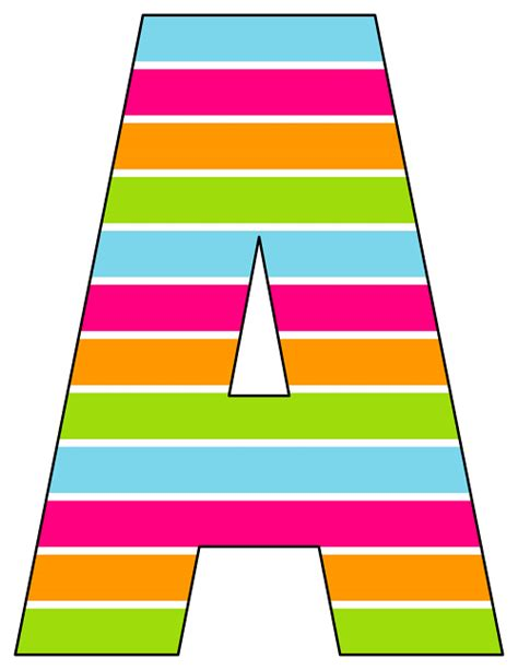 printable alphabet rainbow printable cut out letters a z