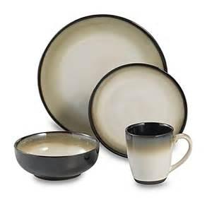 buy nova black 16 piece dinnerware set by sango from bed bath beyond