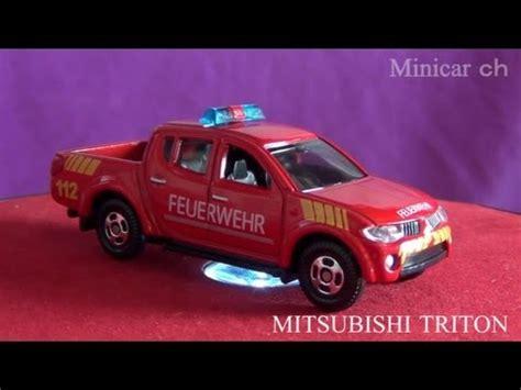tomica mitsubishi triton tomica mitsubishi triton 消防指揮車スペシャルコレクション youtube
