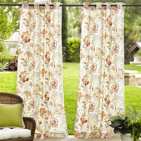 pier one outdoor curtains eva floral outdoor curtain pier 1 imports bohemian