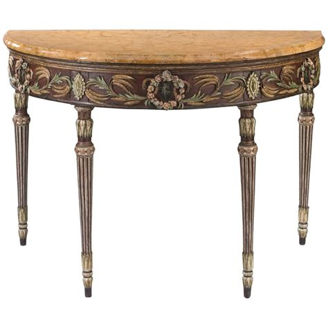 Venetian Console Table Venetian Neoclassical Demilune Console Table With A Giallo Marble Top At 1stdibs