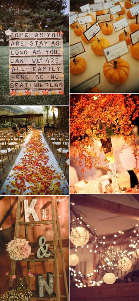 fall wedding decorations ideas 30 great fall wedding ideas for your big day oh best