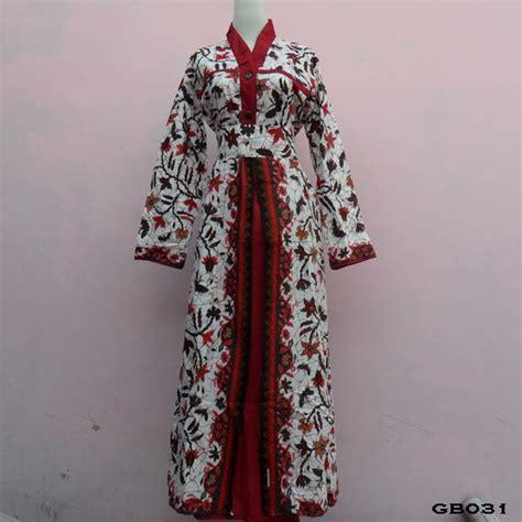 Baju Batik Batik Ayusari Gamis Batik Sogan 2 model model baju gamis batik modern modern 2014