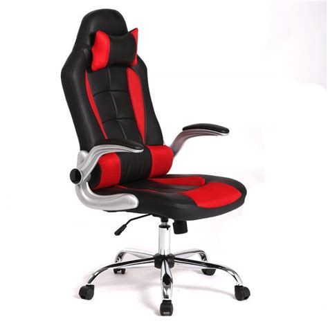gaming desk and chair high back racing car style seat office desk