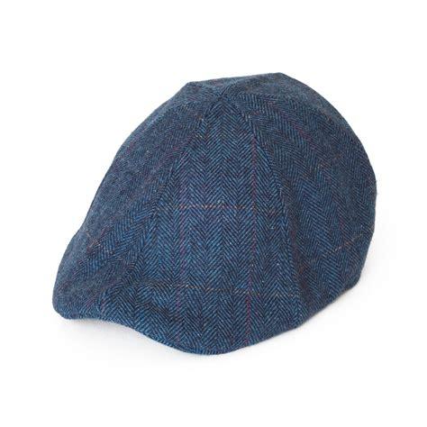 6 panel hat template 6 panel wool blend duckbill flat cap with herringbone