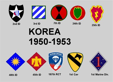 us military sections korean war army insignia bing images
