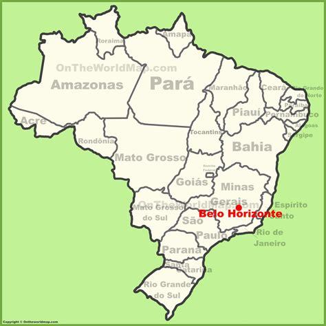 south america map belo horizonte belo horizonte location on the brazil map