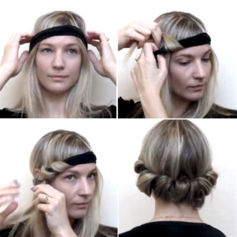 diy hairstyles no heat how to style no heat curls with a headband