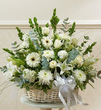 Bunga Artificial Broken White sympathy funeral flowers delivery silver md