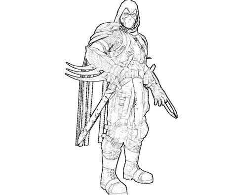 People Printable Deathstroke Coloring Pages Arkham