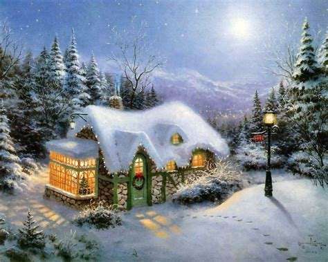 Home Interior Nativity by Thomas Kinkade Winter Winter Fan Art 23436564 Fanpop
