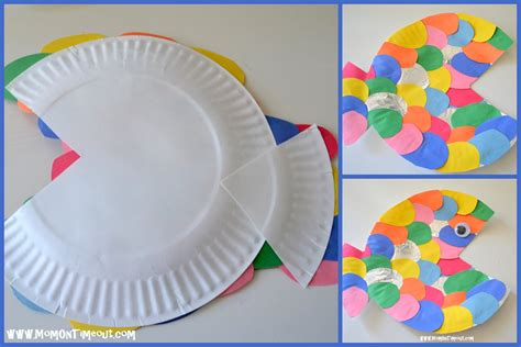 How To Make Fish Out Of Paper Plates - the rainbow fish book activities crafts and snack ideas
