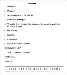 School Team Meeting Agenda Template by School Agenda 10 Free Documents In Pdf Word