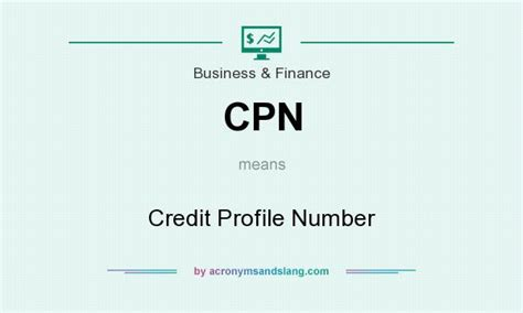 cpn credit profile number in business finance by acronymsandslang