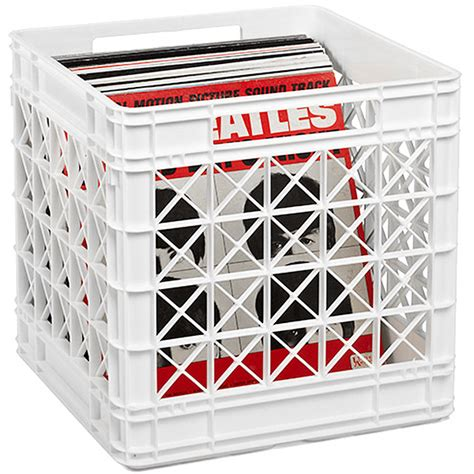 vinyl record storage containers vinyl record storage crate the container store