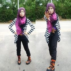 Pasmina Rubi fha azmi rubi malfoy hi top purple pashmina bright