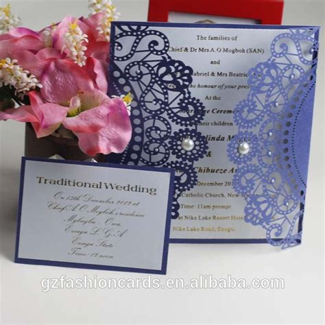 How To Make Handmade Invitation Cards - 2014 royal handmade wedding invitation card laser cut
