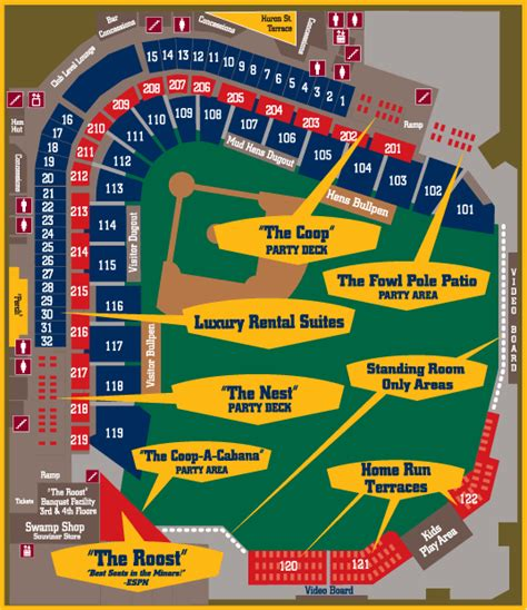altoona curve stadium seating chart fifth third field the ballpark guide
