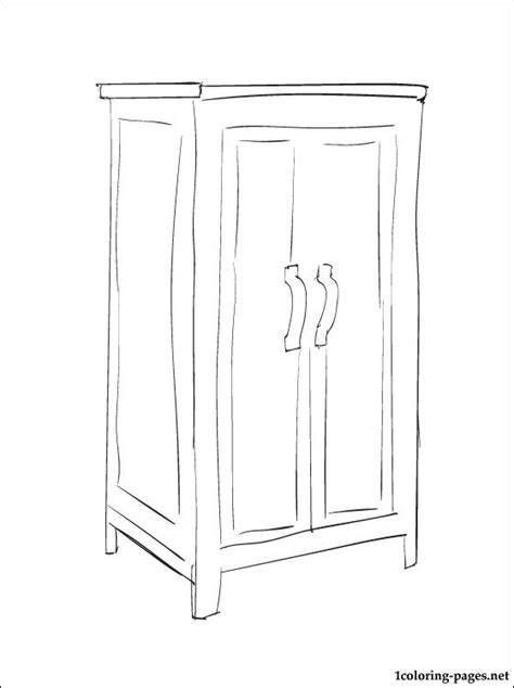 Cupboard For Free Coloring Page Cupboard Coloring Pages
