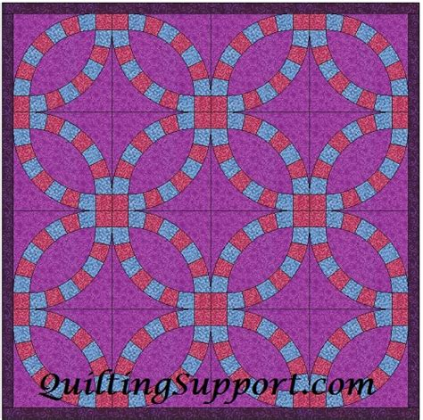 wedding ring quilt pattern templates wedding ring template patterns