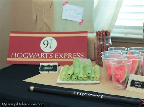 innovative party decorations and supplies myhomeimprovement harry potter birthday party ideas my frugal adventures