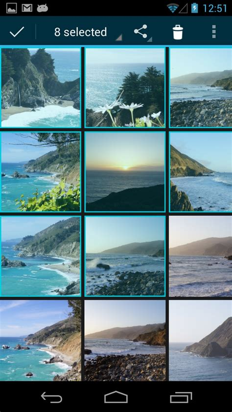 android gallery app photo transfer app android help pages selecting photos using gallery app