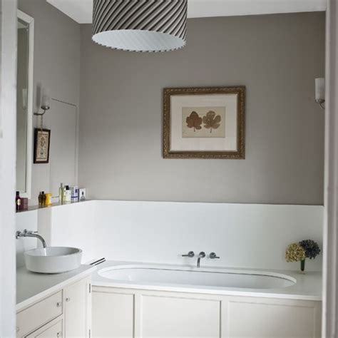 Modern Bathroom Paint Pale Grey Bathroom With Traditional Fittings And Fixtures Housetohome Co Uk