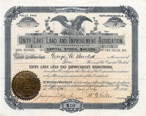 unity lake land and improvement association maine 1892