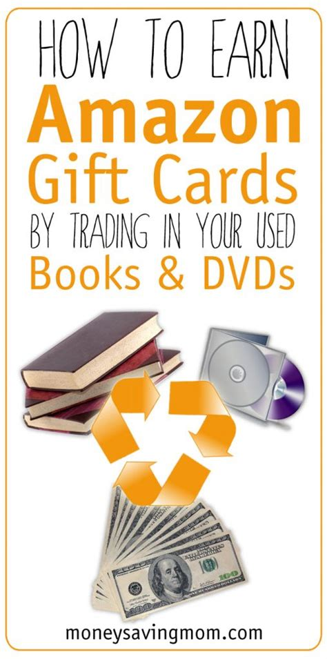 How To Make Money For Amazon Gift Cards - how to earn amazon gift cards by trading in your used books dvds money saving mom 174