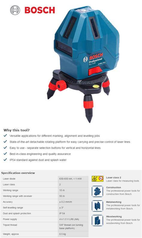Laser Garis Bosch Gll 5 50 X Professional brand new bosch gll 5 50x professional self level cross line laser tool ebay