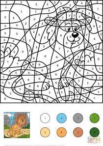 lion color by number coloring pages lion color by number free printable coloring pages