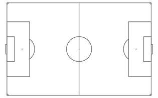 Soccer Pitch Template by Soccer Field Drawing Clipart Best