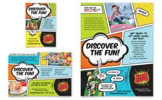 kids club flyer amp ad template design
