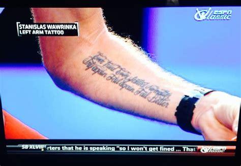 wawrinka tattoo tatouage stan wawrinka