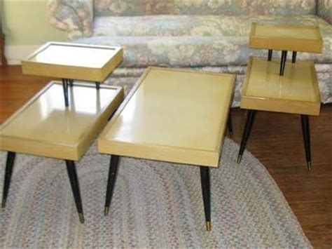 vintage end table 1950s 1950 s coffee table and end tables furniture