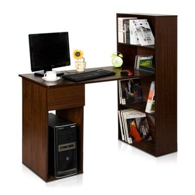 Meja Belajar Meja Komputer Dengan Rak Buku jual funika meja komputer dengan rak buku expresso 13225 ex jd id