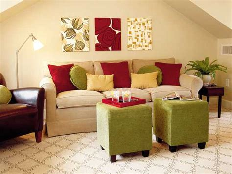 green and red living room 16 ideas bringing bright room colors into modern interior