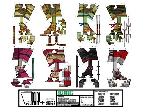 Tmnt Papercraft - bit paper toys series 2 quot turtles quot