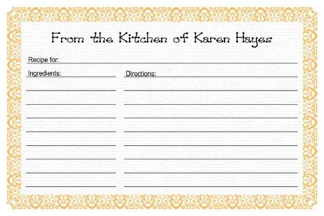 template preschool cookbook printable yahoo image search results
