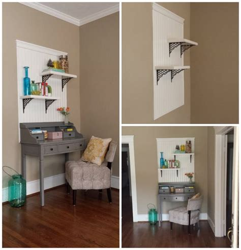 Wainscoting With Shelf by Entryway Desk With Built In Shelves Wainscoting Backer