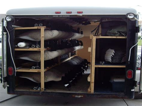 enclosed duck boat blind goose decoy trailer trailers and cers pinterest