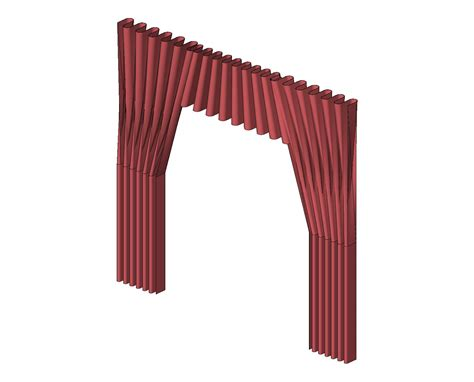 curtain components generic broadcast theater and stage equipment bim