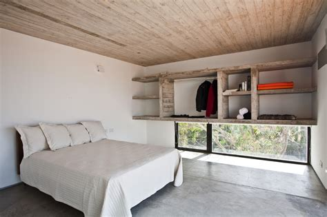 concrete bed bare concrete beach house modern house designs