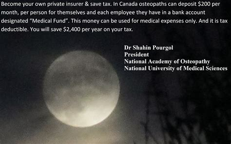 Mba Tax Deduction Canada by Shawn Pourgol Mba Dc Do Phd Osteopathy Business Tip
